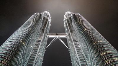 night, sky, skyscrapers, architecture, modern, metropolis, towers, buildings, landmark