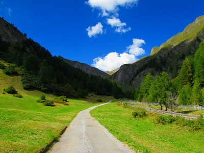 countryside, rural, nature, landscape, sky, clouds, hills, path, road, mountains