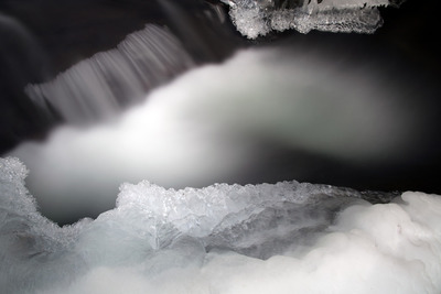 water, river, flow, black, white, nature, crystals, abstract, winter, frozen, ice