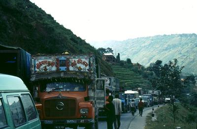 nepal, traffic, jam, cars, automobiles, vehicles, people, nature, destination, hills