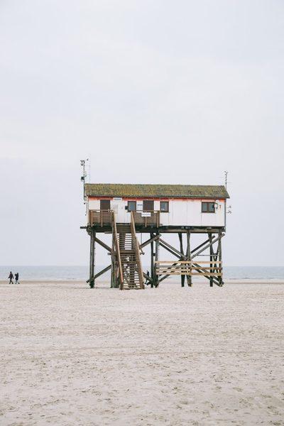 beach, sea, sand, water, rescure, tower, germany, seaside, resort, destination