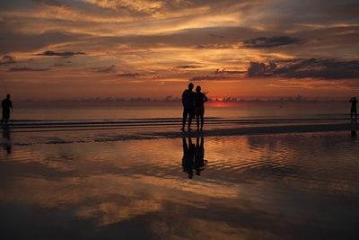 ocean, sea, water, beach, sand, dusk, sunset, couple, romance, valentines, day, love