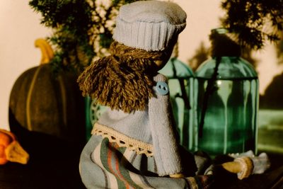 doll, puppet, toy, objects, handmade, button, pumpkins, fabric