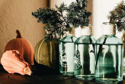 pumpkins, vases, plants, home, decor, flowers, diy