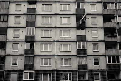 building, architecture, apartments, flats, windows, block, black, white, old