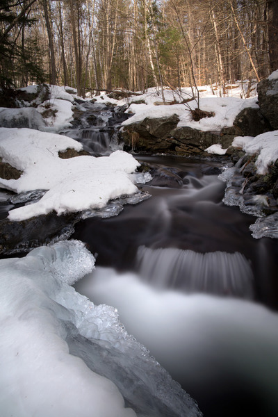 water, river, flow, black, white, nature, crystals, winter, ice, rapids, stream, forest
