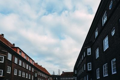 buildings, architecture, windows, sky, clouds, houses, town