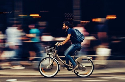 bicycle, bike, cycling, recreation, boy, guy, man, motion, speed, street, cyclist