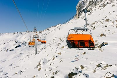 ski, resort, lift, cables, winter, snow, cold, sky, skiing, mountain