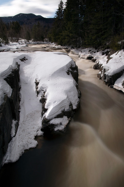 river, rapids, water, snow, winter, landscape, frozen, abstract, nature, trees, mountain, rocks