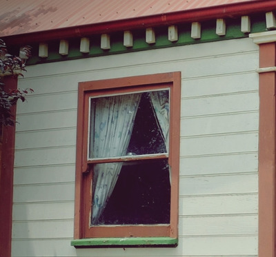 house, old, window, roof, architecture, curtains, home, property