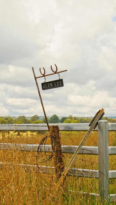 rural, countryside, farm, fence, sign, sky, clouds, grass