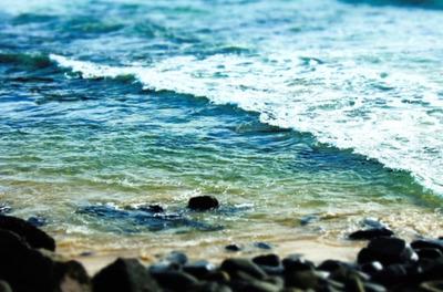 ocean, sea, water, pebbles, stones, summer, wave, beach