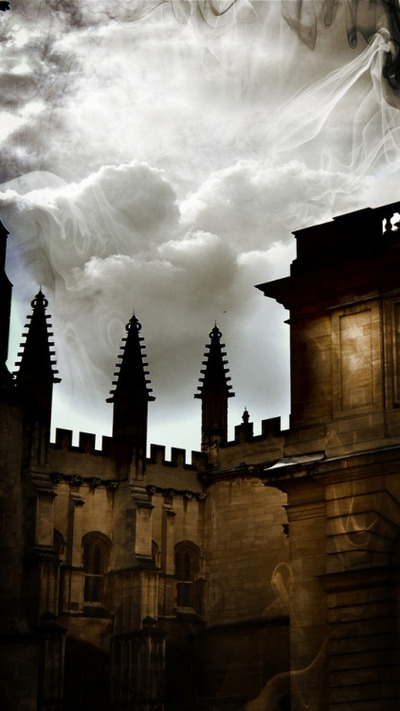 castle, fort, palace, architecture, sky, clouds, smoke, abstract, medieval