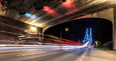 long, exposure, road, highway, tunnel, bridge, night, infrastructure, lights, architecture, asphalt