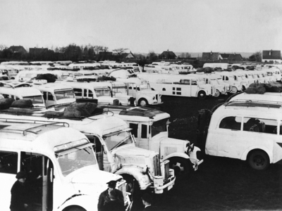 old, vintage, black, white, buses, vehicles, historic, history