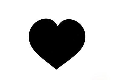 heart, illustration, black, white, love, symbol, shape