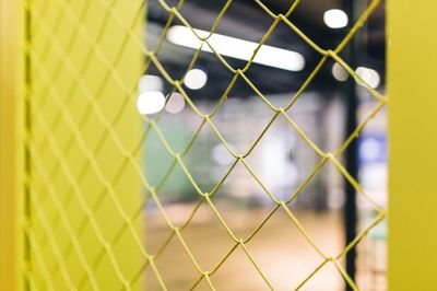 yellow, wire, mesh, fence, bokeh, metal, netting, cage