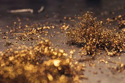 gold, golden, festive, material, bokeh, texture, metal