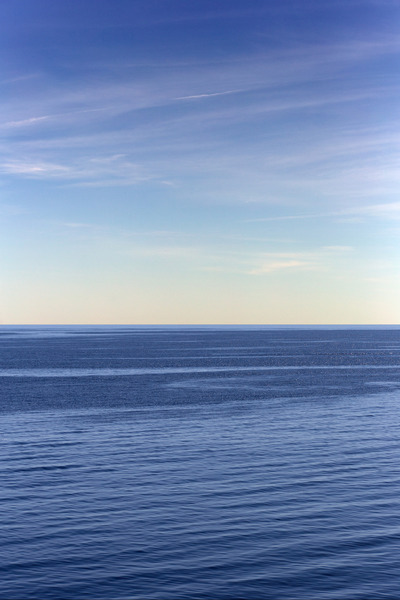 ocean, sea, water, blue, horizon, sky, clouds