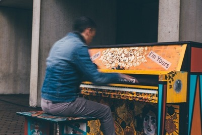 piano, musical, instrument, music, sound, composition, pianist, musician, street