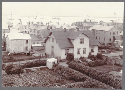 old, vintage, black, white, town, historic, buildings, architecture