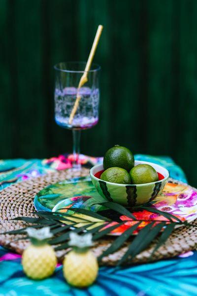 outdoor, garden, table, lime, fruit, glass, drink, fresh, beverage
