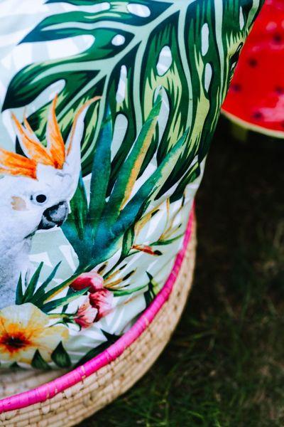 basket, picnic, bag, outdoor, tropical, exotic, summer, pattern
