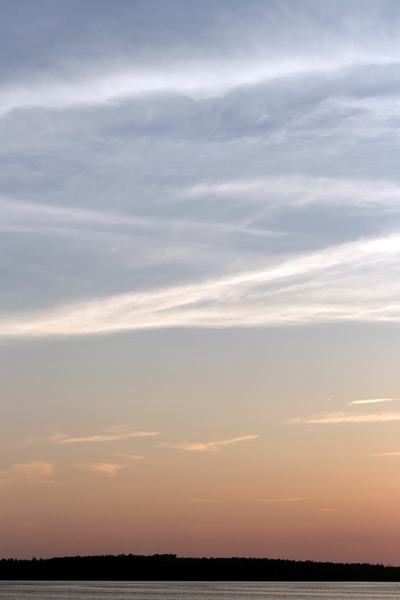 ocean, sea, water, sky, clouds, dusk, sunset, summer, landscape