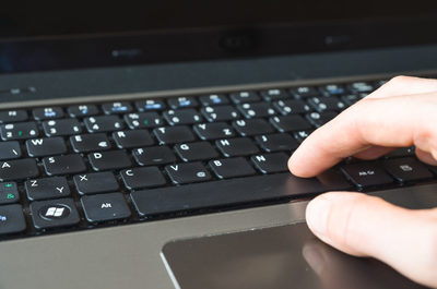 laptop, notebook, keyboard, hand, technology, workplace, workspace, male, typing, work