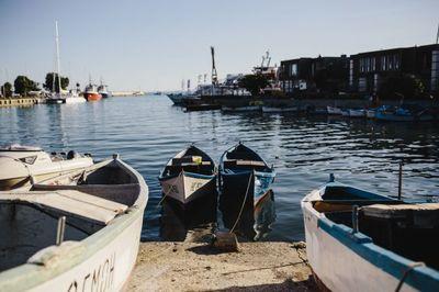 marina, port, harbour, boats, sea, water, summer, sky
