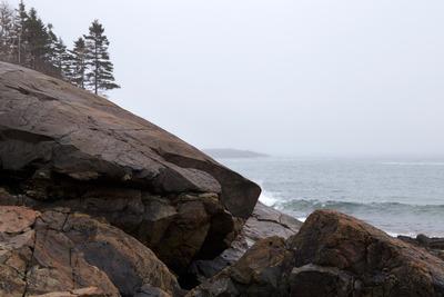 ocean, sea, water, coast, shore, sky, cloudy, rocks, nature