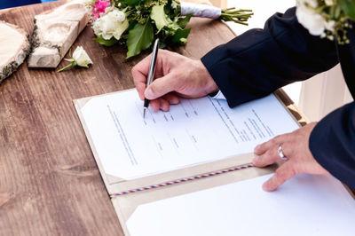 wedding, marriage, bride, groom, signature, ceremony, love, female, male, couple, husband, wife