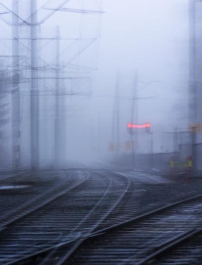 railway, railroad, trails, rail, transport, transit, metro, fog, morning, mist