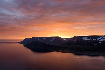 lake, water, nature, landscape, sky, clouds, dusk, dawn, sunrise, sunset, waterscape, mountains