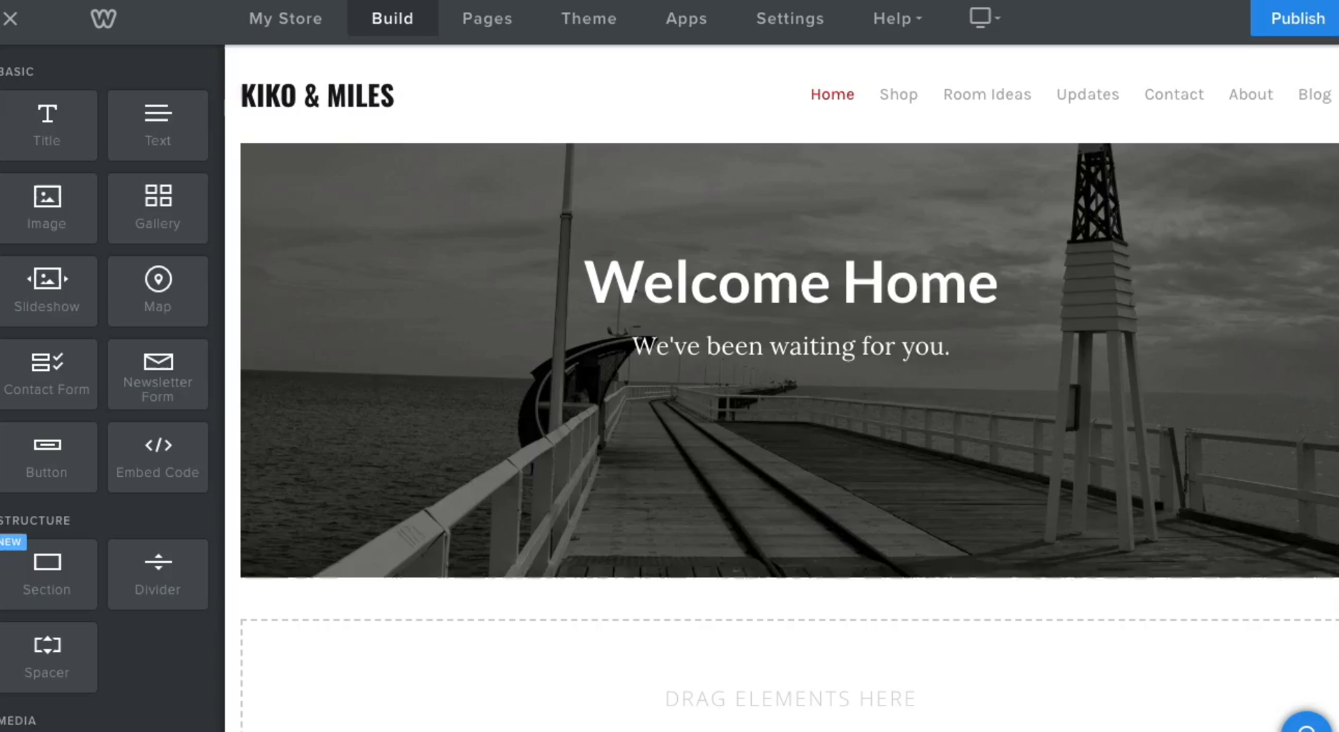 features Website builder Weebly
