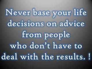 Advice from people