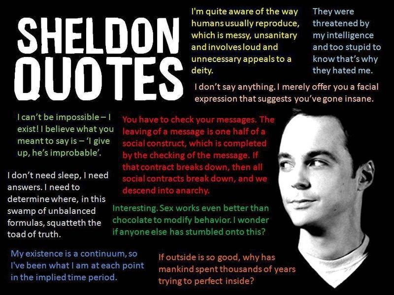 Sheldon quotes