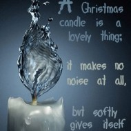 A christmas candle is a lovely thing