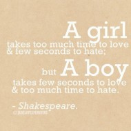A girl takes too much time to love