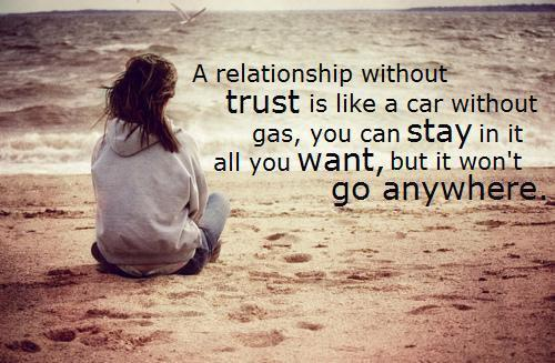 Quote Pictures A relationship without trust is like a car without gas