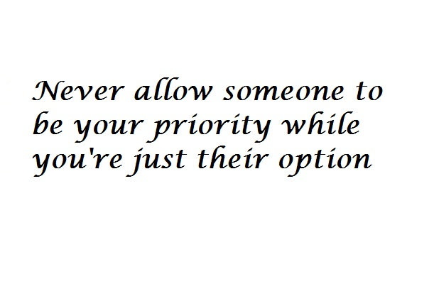 Choose your priority