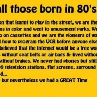 For all those born in the 80s