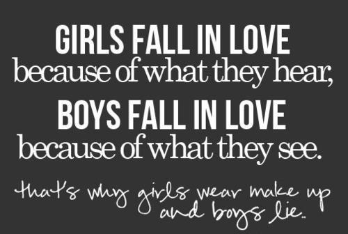 why do boys fall in love