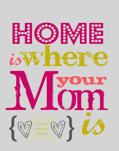quote pictures home is where your mom is