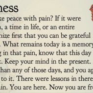 How do you make peace with your pain