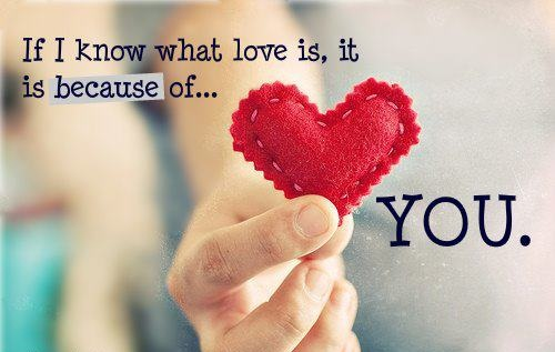 Because of you ...