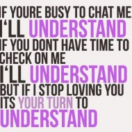 If you are busy to chat to me I'll understand