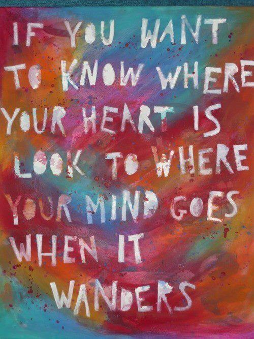 Quote Pictures If You Want To Know Where Your Heart Is Look To