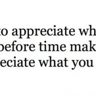 Quote Pictures Learn To Appreciate What You Have Before Time Makes